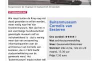 Alles kan en alles mag in het buitenmuseum. Parool.nl; 28 augustus 2014.