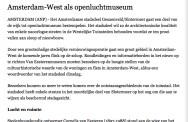 Amsterdam-West als openluchtmuseum. nrc.nl; 11 april 2006.