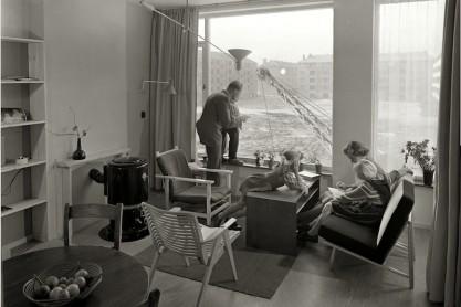 Modelwoning in de Pieter van der Werfstraat in Geuzenveld. Architect Merkelbach; 1956.