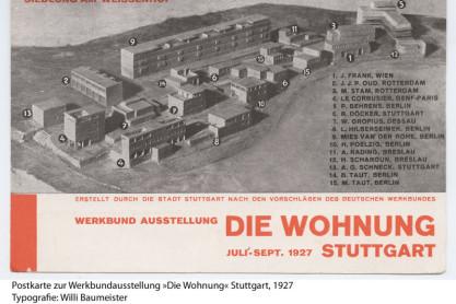 Siedlung am Weissenhof. Werkbund Ausstellung 'Die Wohnung' Stuttgart; 1927.