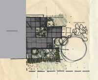 Schets voor de Van Eesteren Museumwoningtuin, door landschapsarchitect Mirjam Koevoet.