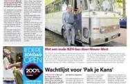 Met een oude NZH-bus door Nieuw-West. Stadsblad De Echo; 11 september 2013.