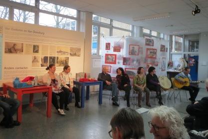 Verhalenvoorstelling 60 jaar werk in Nieuw-West in het Van Eesterenmuseum; december 2013.