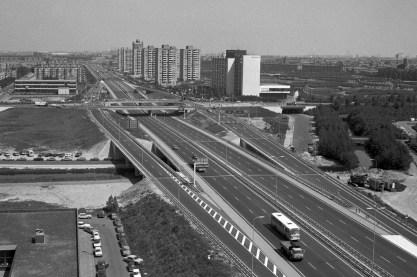 Ringweg A10-West; kort na de opening in 1975.