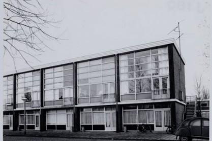 Atelierwoningen Van Karnebeekstraat. Foto: Stadsarchief Amsterdam.