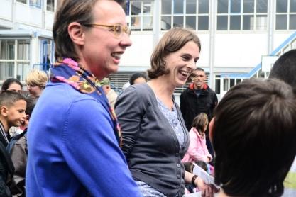 Docenten Ellen en Colette Speelse Prijs Noordmanssschool. Foto: Victorien Koningsberger.