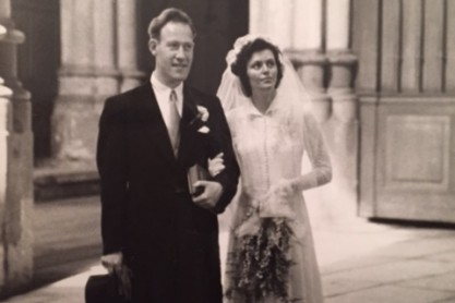 Huwelijksfoto Hennie van der Graaf en Joop Löbler