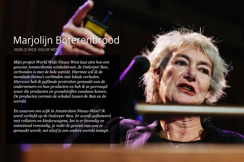 Marjolijn Boterenbrood. Beeld: Stadsleven Amsterdam.