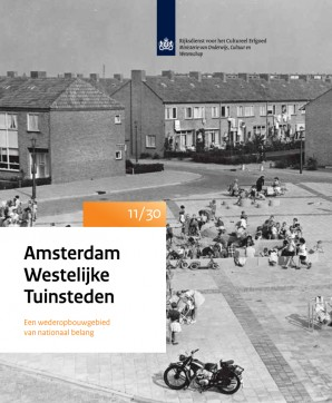Folder Amsterdam Westelijke Tuinsteden 11/30. Een wederopbouwgebied van nationaal belang.