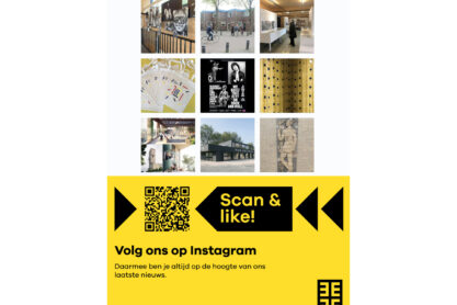 Scan & check Posters - Poster Volg ons op Instagram