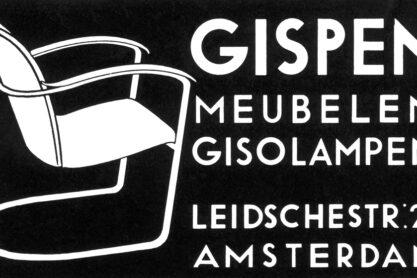Reclame uit 1934 voor Gispenmeubelen