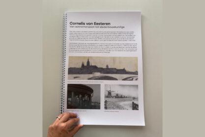 Boek met alle teksten en beelden van de vaste tentoonstelling in het Van Eesteren Paviljoen.